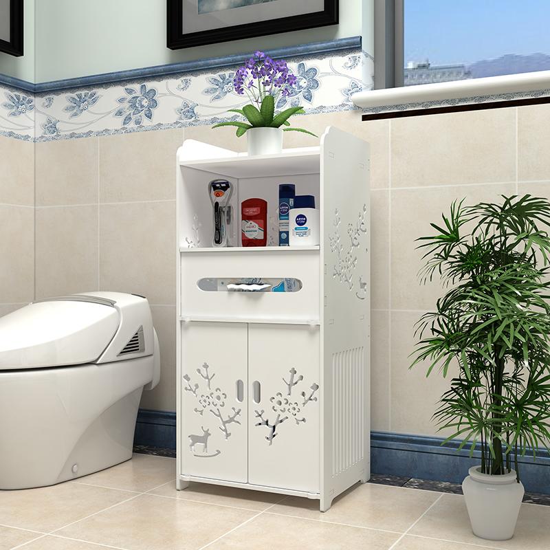 卫生间浴室落地式防水多层置物架厕所夹缝洗手间收纳柜马桶置物架