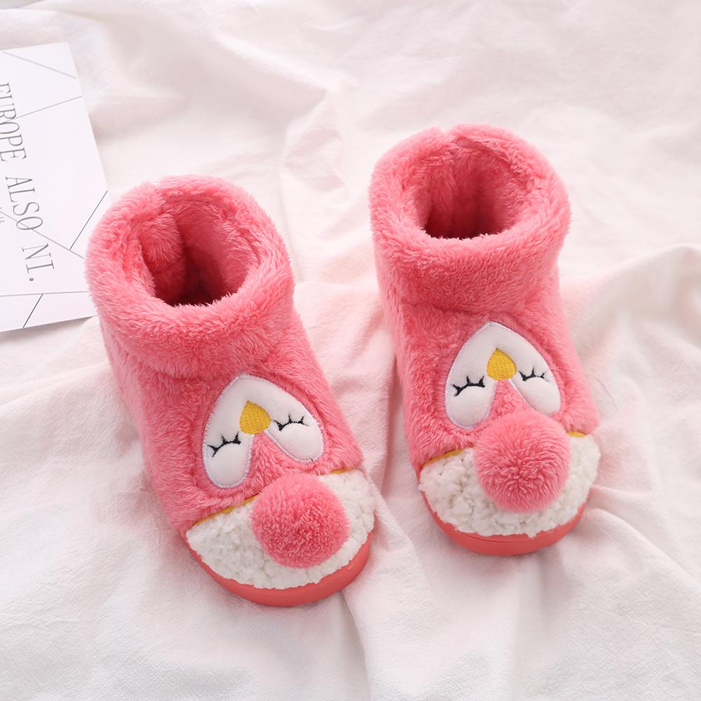 儿童棉鞋冬季包跟宝宝拖鞋可爱男童女童小孩中大童幼儿园室内鞋
