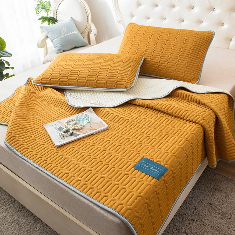 泰国乳胶凉席三件套天丝空调软席子1.5冰丝1.8m床可折叠水洗夏季