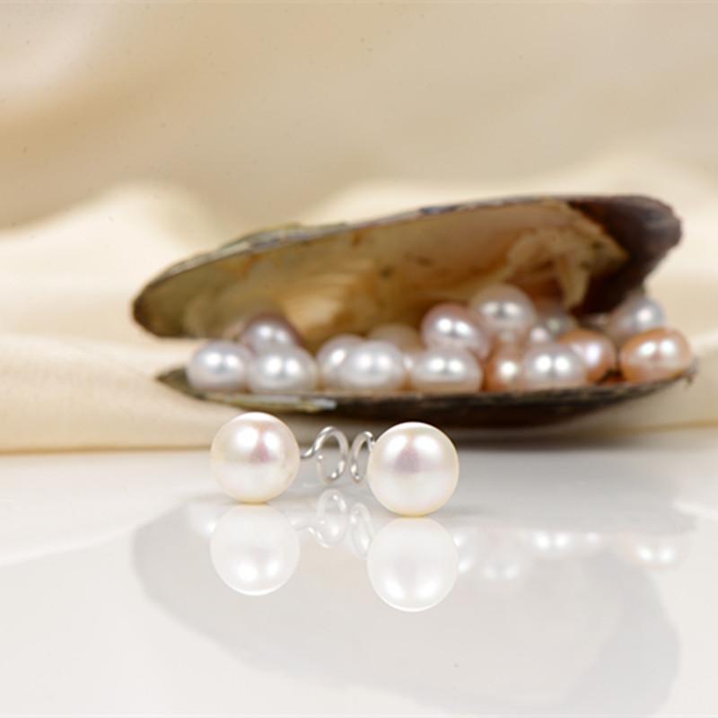 纯银淡水珍珠耳钉女简约小巧2019新款潮复古耳饰睡觉不用摘的耳环