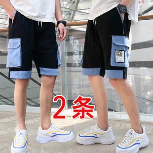 短裤男ins多口袋工装裤宽松