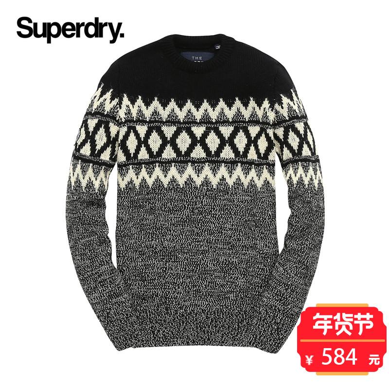 英国Superdry极度干燥男士长袖针织衫2017冬季休闲