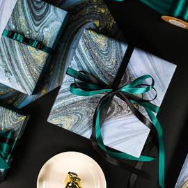 【流墨星河】款生日礼物包装纸礼品包书皮纸ins背景纸情人节恋人大理石纹系列创意包装纸