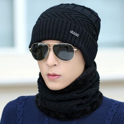 帽子男冬天毛线帽加厚韩版针织帽套头帽加绒保暖男士冬季帽男青年 拍下16.9元包邮