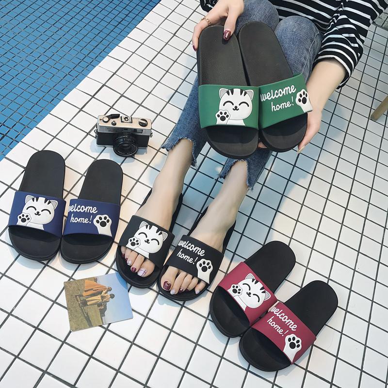 男夏天拖鞋女夏浴室洗澡软底可爱防滑韩国室内条纹居家情侣凉拖鞋