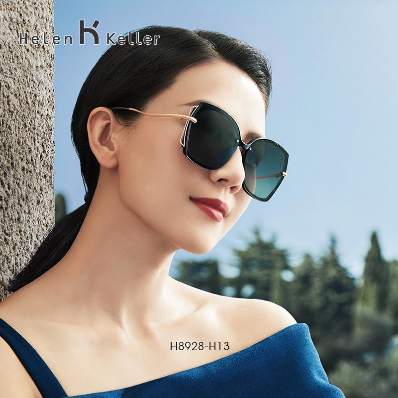 海伦凯勒2020年太阳镜女圆脸墨镜女韩版潮偏光镜女大脸墨镜H8928