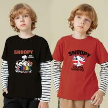 男童t恤长袖纯棉2021新款春装洋气上衣儿童宝宝打底衫薄款春秋款