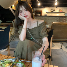 2021春夏季ji4红同式韩ka发仙女式长短连衣裙子潮