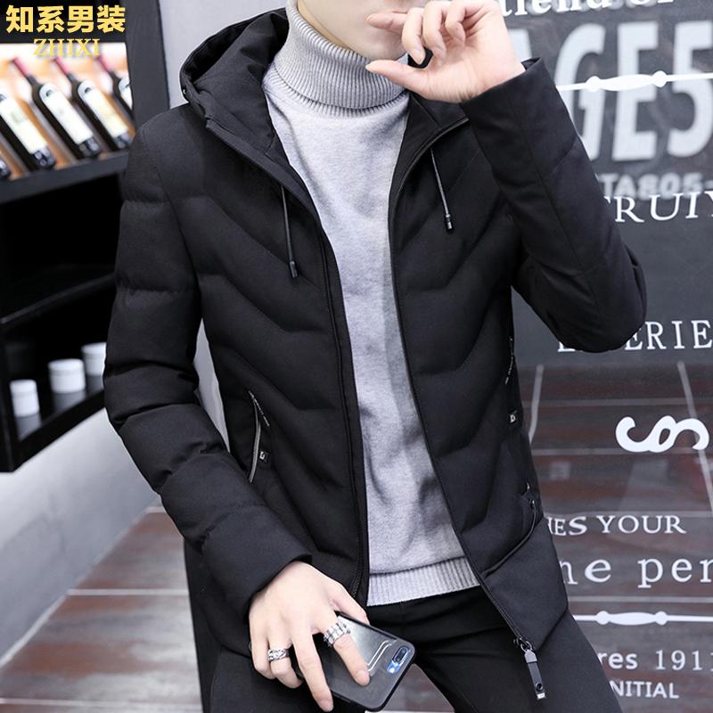 鼕季男士外套棉衣2017新款韓版修身短款棉服青年潮男鼕裝加厚棉襖