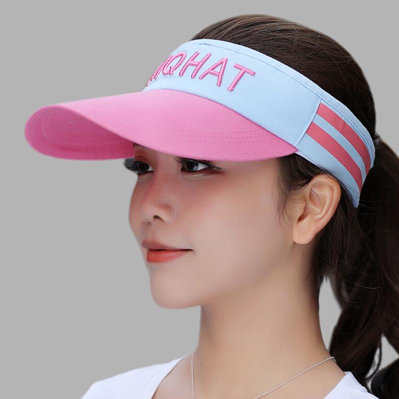 蓝 粉色帽檐