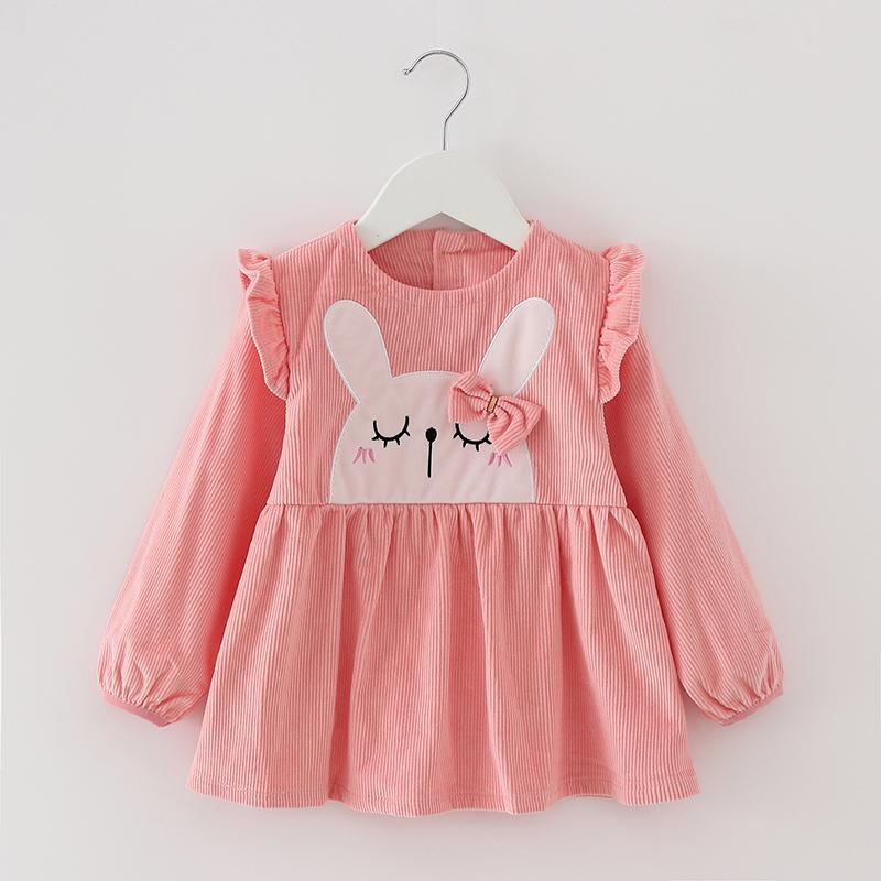 秋冬宝宝罩衣纯棉长袖女孩公主裙防水儿童反穿衣婴儿吃饭围兜护衣