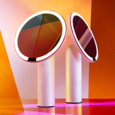 AMIRO O系列高显色高清小白镜日光镜LED镜子化妆镜带灯化妆镜台式