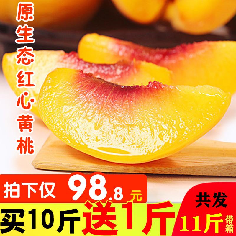 正宗炎陵黄桃东江湖锦绣高山桃子10斤礼盒包邮现摘现发5新鲜水果
