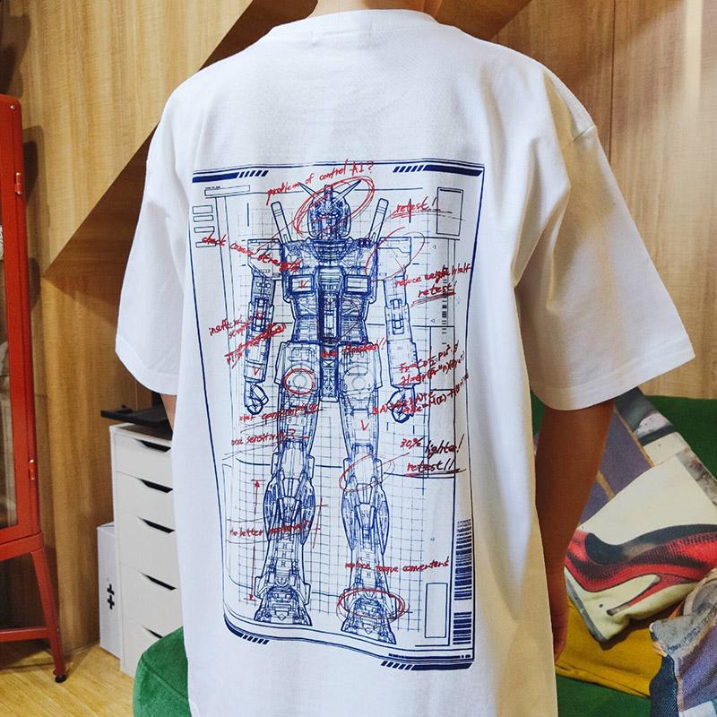 胶囊工作室原创国潮全棉T恤机动战士高达RX78设计图短袖热卖包邮