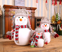 Christmas Snowman Doll Large, Medium and Small Foam Snowman Family of Three Christmas Tree Decorations Christmas Gifts