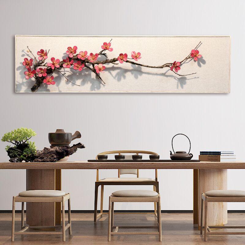 创意新中式客厅玄关沙发立体墙面装饰禅意背景墙壁饰墙壁装饰挂件