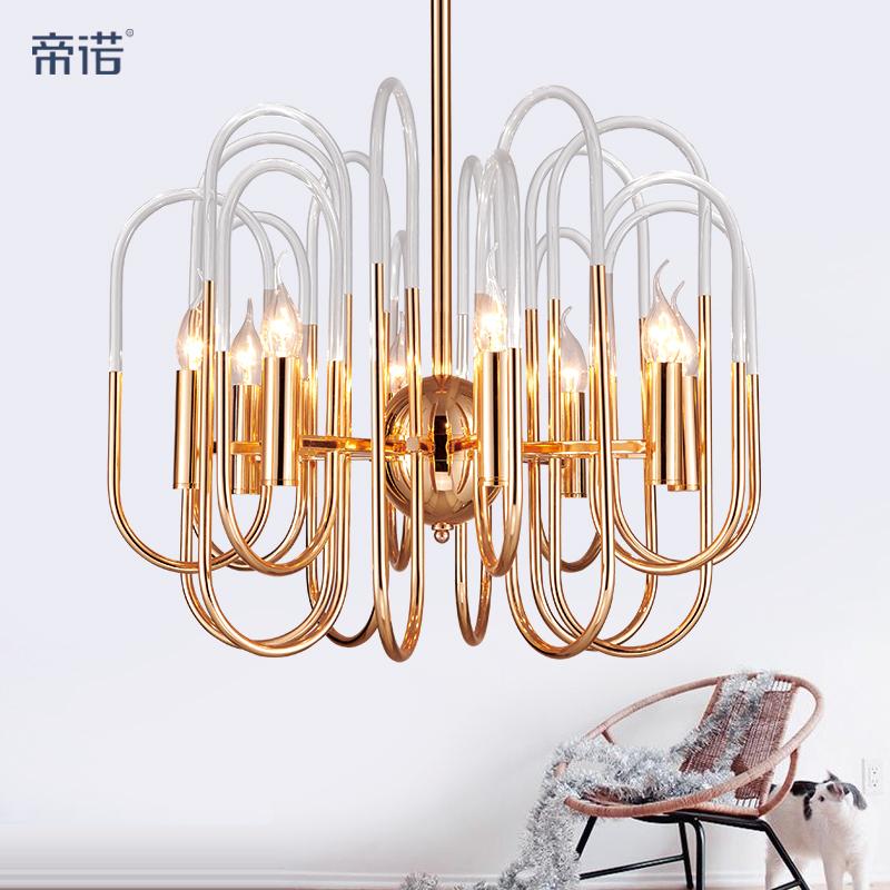 后现代简约创意个性餐厅卧室灯具北欧奢华大气亚克力客厅艺术吊灯-帝诺灯饰