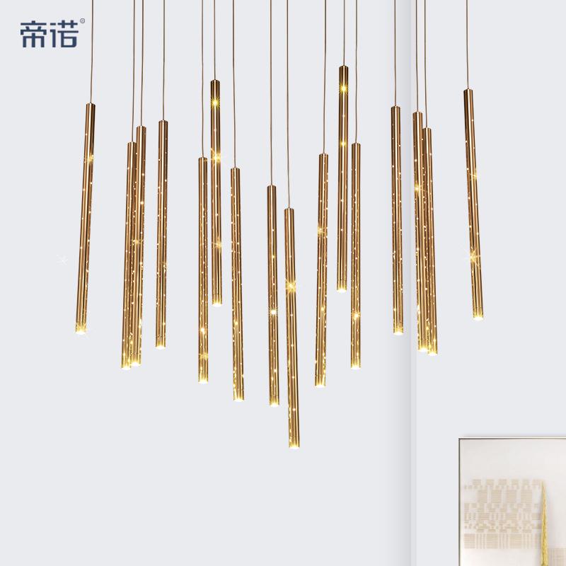 帝诺 后现代个性创意竹子灯具 简约咖啡厅竖条竹节餐厅风铃吊灯-帝诺灯饰
