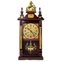 三五牌挂钟机械钟实木打bo8报时座钟es客厅家用上弦发条台钟