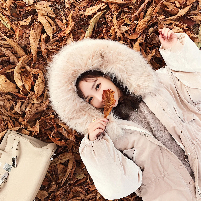 【SASA小姐】定制冬季新款宽松加厚金丝绒毛领连帽棉服女外套上衣