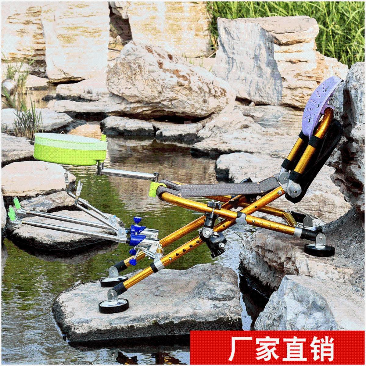 迷你钓椅新款钓椅折叠座椅小号多功能钓鱼椅凳全地形便携伸缩腿可