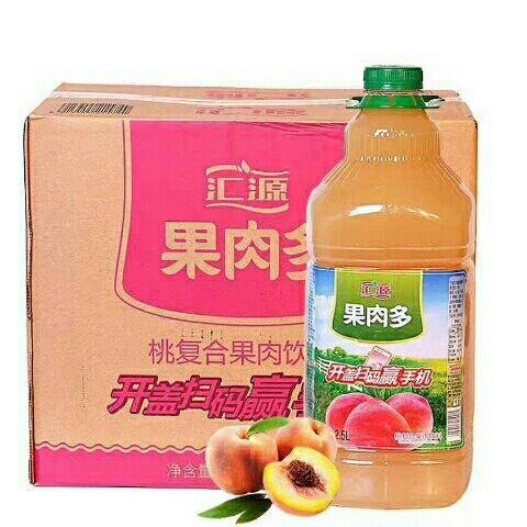 汇源2.5L纯果蔬汁桃汁橙汁猕猴汁山楂汁2.5L*6瓶整箱家宴聚餐备用