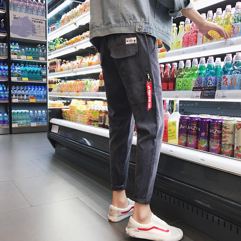 冬季裤子男士韩版潮流2017新款九分裤小脚裤宽松修身哈伦裤休闲裤