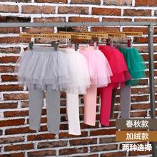 女童裙裤假两件网纱蓬蓬裙20as110新式es加绒加厚纯棉打底裤