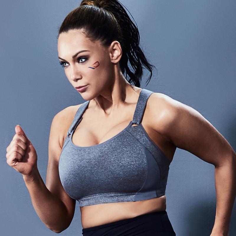 大码运动内衣女高强度防震跑步背心大胸显小胖mm专业健身文胸罩夏
