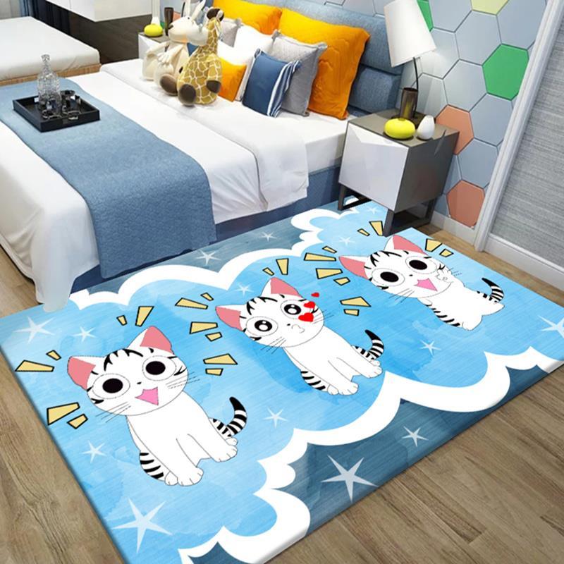 地毯地垫儿童卧室满铺可爱网红同款北欧家用床边毯茶几垫客厅地毯