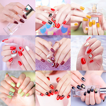 Nail removable nail coated wearable removable false piece waterproof durable repeat piece stickers