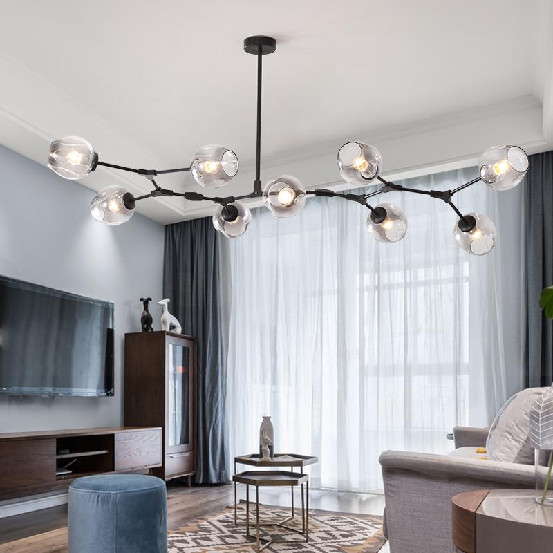 北欧风格后现代简约大气分子灯魔豆客厅餐厅吊灯创意个性卧室灯具_piobani旗舰店