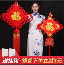 春节过新年室内客厅装饰挂件乔迁大小号中国结福字玄关镇宅工艺品