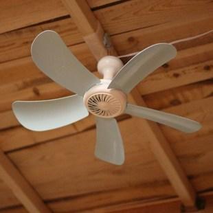 三叶电风扇迷你风扇蚊帐吊扇家用小型静音学生宿舍床上小吊扇风扇