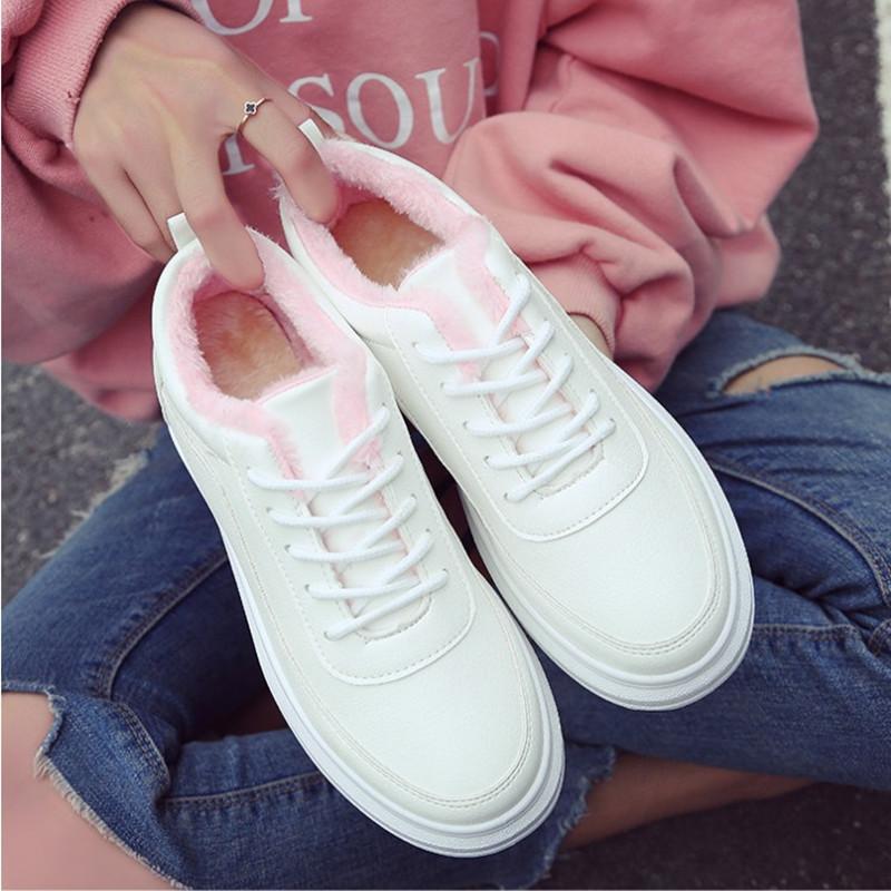 小白鞋女夏秋季2017新款學生韓版百搭厚底增高街拍白色港風板鞋女