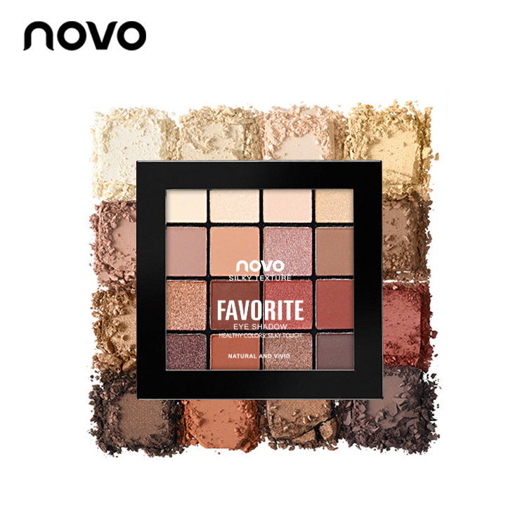 Novo eyeshadow matte Nude makeup Waterproof Korean beginner not dizzy ins net red-eye shadow disk maiden department parity