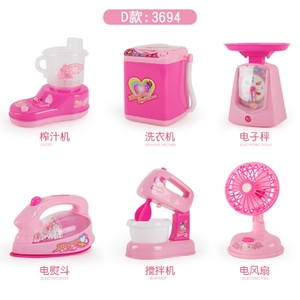Life appliances male baby air conditioner children toys household appliances set table lamp electric fan light telephone