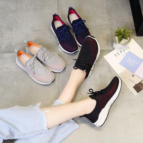 歌蒂韵秋季新款韩版系带运动鞋女鞋跑步鞋软底学生休闲鞋透气单鞋