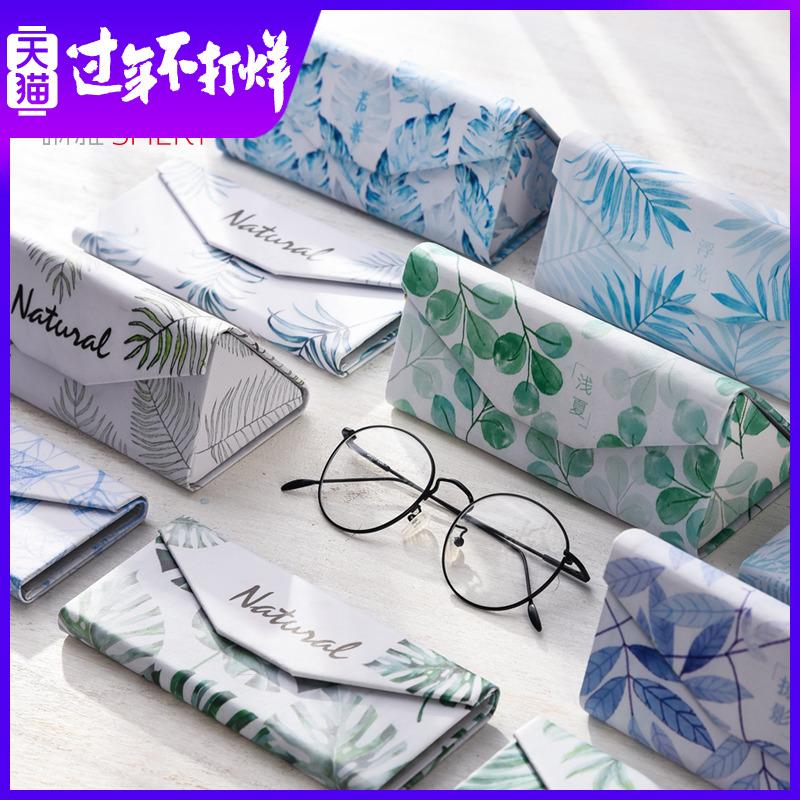 墨镜盒男式女生韩国风小清新复古优雅简约便携式折叠太阳眼睛盒子
