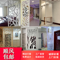 雕花板鏤空隔斷通花格pvc吊頂走廊裝飾屏風客廳玄關背景牆歐中式