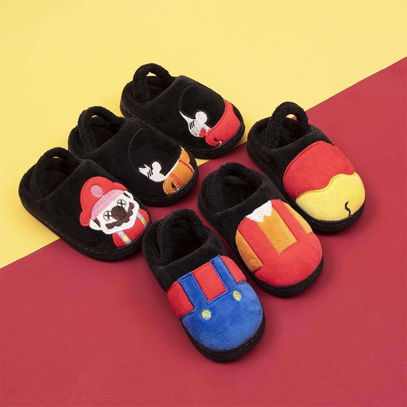 儿童拖鞋女童冬季室内居家棉鞋一家三口亲子鞋加绒加厚男童棉拖鞋