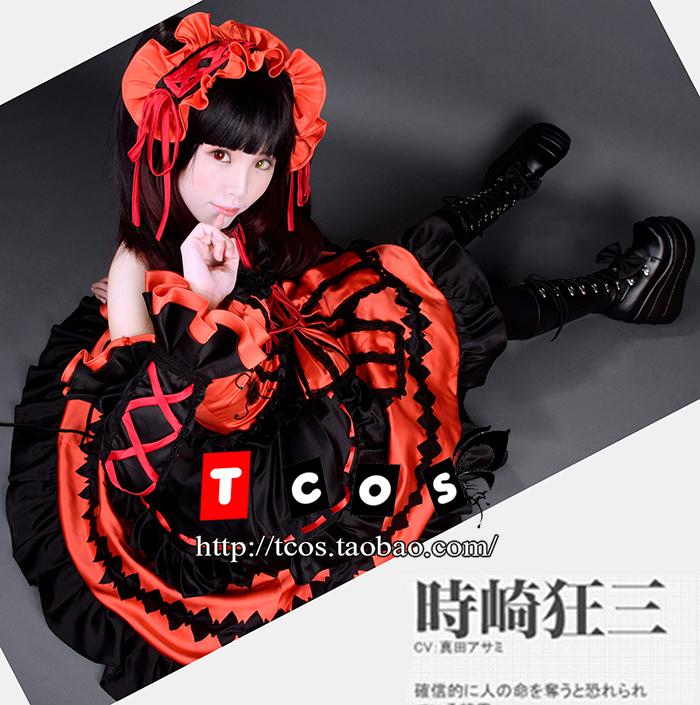 TCOS 约会大作战 狂三cos 灵装 时崎狂三cos服 动漫cosplay服装