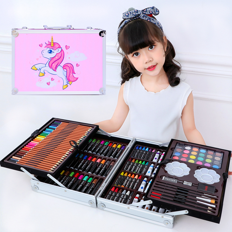 儿童绘画套装画画工具小学生画画笔幼儿园水彩笔美术用品女孩礼物
