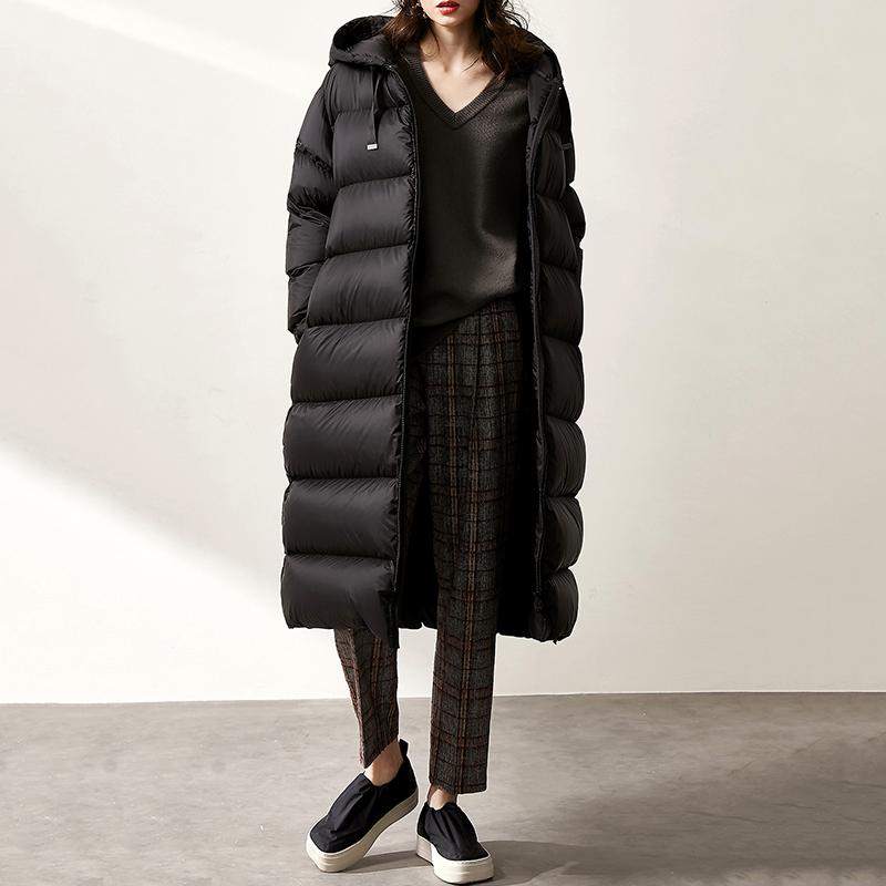 ^@^【YR0925360】今冬重磅级!高耗料高保暖连帽长款鹅绒羽绒服