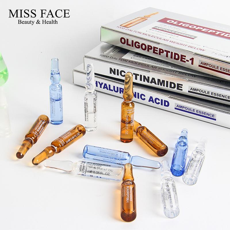 Miss face玻璃安瓶套装平痘淡痕温和舒缓补水保湿精华液7支装正品