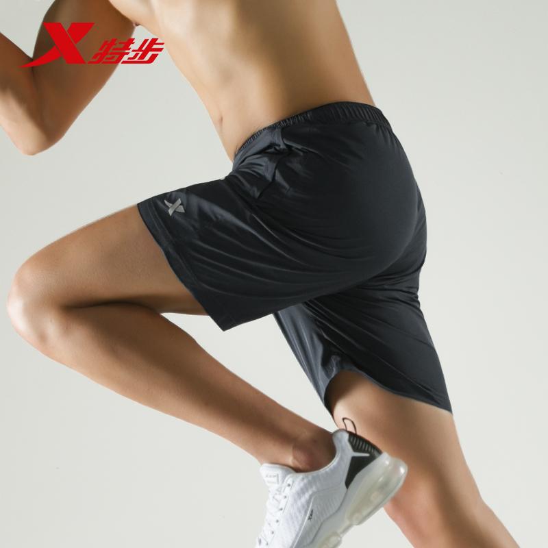 特步运动短裤男2019夏季新款男裤健身跑步梭织五分裤中裤轻薄透气