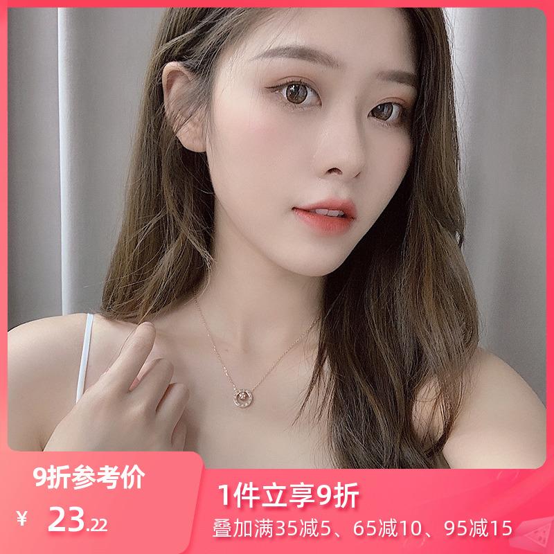 点击查看商品:小众品牌项链女玫瑰金气质简约钛钢锁骨韩国网红2020年新款潮装饰