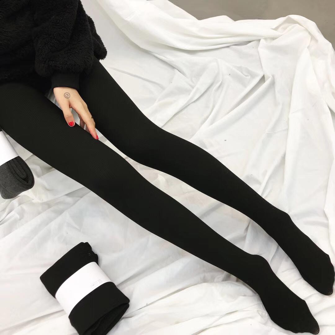 【拍2条59元】打底裤女加绒薄绒打底袜秋冬季瘦腿保暖外穿连裤女