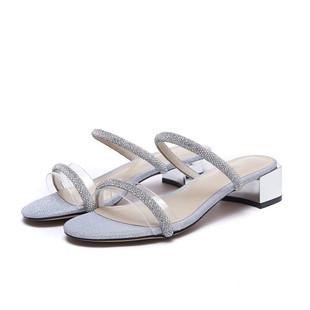 2020夏热风四季女鞋新款一字带外穿拖鞋时尚仙女风凉鞋女H56W0223