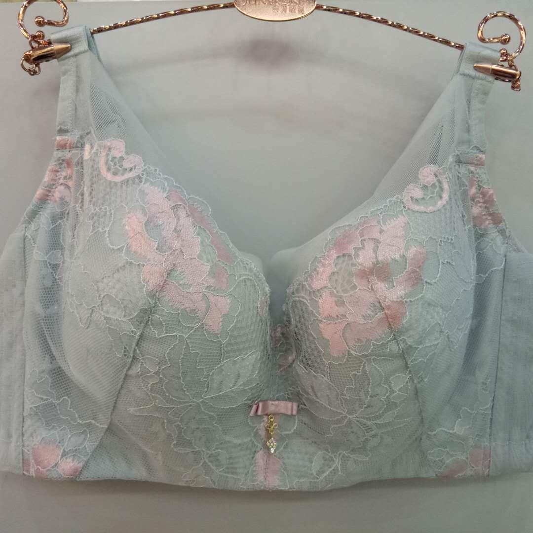 正品六月玫瑰全罩杯内衣大胸薄款聚拢上托无钢圈调整型文胸